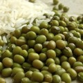 Mung Beans rice background